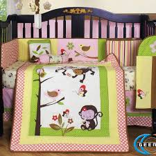 Monkey Crib Set Make Your Own Bedding Homesfeed