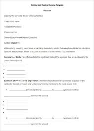 Teaching Assistant CV resume templates on microsoft word
