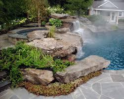 Attractive Backyard Rock Landscaping Ideas Image Of River Rock - Backyard river design