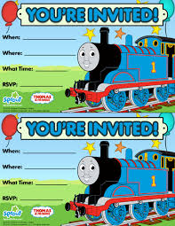 Birthday Invitation Cards For Kids Thomas U0026 Friends Party Invitation Free Birthday Party Ideas