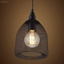 Black Pendant Light by Vintage Black Industrial Rustic Metal Mesh Pendant Light Ceiling