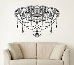 online get cheap indian wall decal aliexpress com alibaba group 26in 22in wall decals yoga lotus namaste indian buddha decal vinyl wall sticker home decor