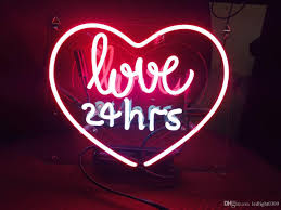 2017 neon signs neon light sign love 24 hours 10 x 9 cool home
