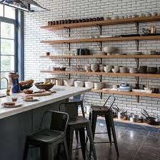 Kitchen Shelving New England White Tiled Kitchen Industrial Shelving Industrial