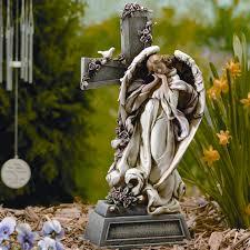 garden angel statue praying angel garden statue serene outdoor