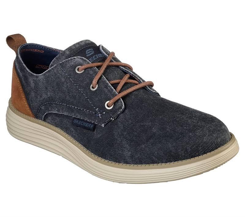 Skechers Status 2.0 Pexton Oxford Shoes Blue, 10.5