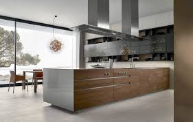 Stainless Steel Kitchen Furniture by Contemporary Linear Kitchen In White Wood And Stainless Steel