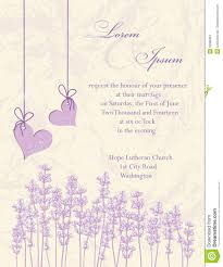 Invitation Card Of Wedding Wedding Invitation Card Lavender Background Stock Vector Image