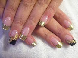 gold french tip nail designs gold french nails hair beauty