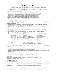Sample Medical Technologist Resume by Microbiology Resume Samples Free Resume Example And Writing Download