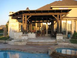 Simple Covered Patio Designs by Exterior Simple Wooden Pergola And Gazebo Design Attached To