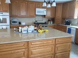 open kitchen with quartz counters and oak cabinets beautiful open kitchen with quartz counters and oak cabinets beautiful