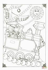 nutcracker in his little train coloring page free printable