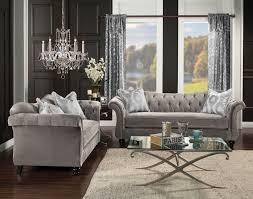 tufted sofa 2 piece antoinette dolphin gray tufted sofa set made in usa u2022 usa