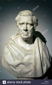 David Cox by Marble Portrait Bust Of Victorian Artist David Cox By Peter