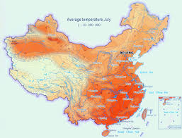 Fuzhou China Map by Climate Map Of China For Average Temperature In July In Large