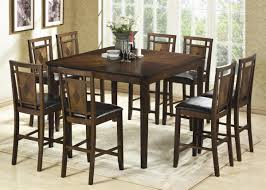 counter height dining set leather furniture black chairs white