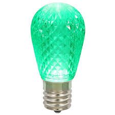 25 pack 0 96w 11s14 faceted green led replacement christmas