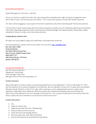sample resume for marketing executive position sample internship resume cover letter internship cover letter resume cover letter accounting resume letter for internship