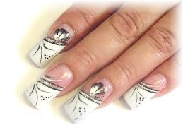 white tip nail designs purple glitter acrylic nails with black