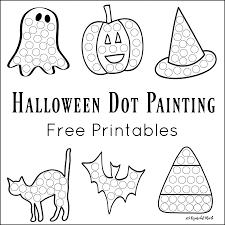 printable halloween worksheets halloween dot painting free printables the resourceful mama