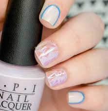 glass shatter nail art with opi alice through the looking glass