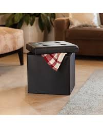 amazing deal danya b folding storage ottoman with buttons black