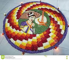 Indian Flower Design Indian Festival Traditional Floral Design Art With Colorful Flower