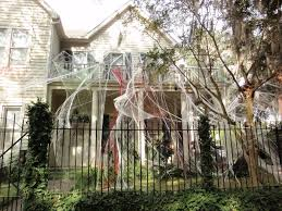 Scary Halloween House Decorations Halloween Decorations Spiders U0026 Web To Spook Up Everyone