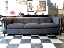 Living Room Design Ideas With Grey Sofa Dark Grey Modern Tufted Sofa With Wooden Frame For Modern Living