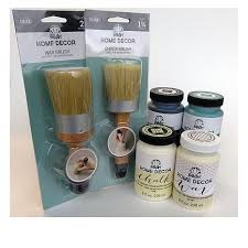 folkart home decor chalk paint 8 oz deluxe kit 8512587 hsn