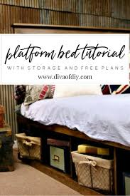 Make A Platform Bed With Storage by How To Make Your Own Diy Platform Bed With Storage