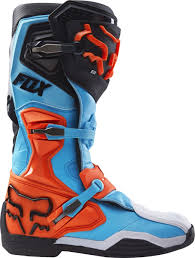 motocross boot straps fox racing new 2017 mx comp 8 dirt bike blue aqua orange