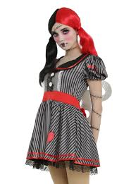 broken doll halloween costume black u0026 grey striped wind up doll costume topic