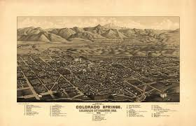County Map Of Colorado Vintage Poster Vintage Map Of Colorado Springs Colorado 1882 El