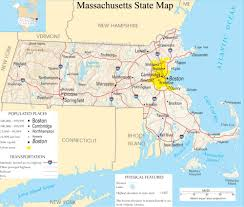 Washington Dc Usa Map by Massachusetts State Map A Large Detailed Map Of Massachusetts