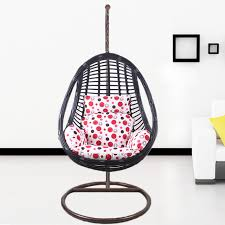 egg shaped hollow hanging chair rattan chairs wrought iron balcony