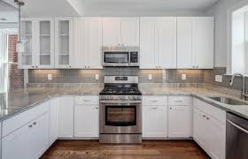 Off White Kitchen Cabinets With Black Countertops Kitchen Kitchen Backsplash For White Cabinets Kitchen Backsplash
