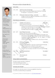 Student Resume Examples No Experience by Chronological Resume Format Download Resume For Your Job Application
