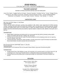 Sample Career Objectives For Resumes by Sample Teacher Aide Resume Free Resume Example And Writing Download