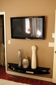 Kitchen Tv Under Cabinet Mount Hubby Built Modern Shelves To Wall Mount Under Tv He Is So Smart