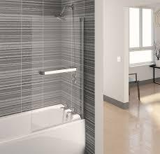 aqualux aqua 4 clear glass square bath shower screen 750 x 1375mm