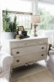 a new old dresser in the sunroom farmhouse style sunroom and
