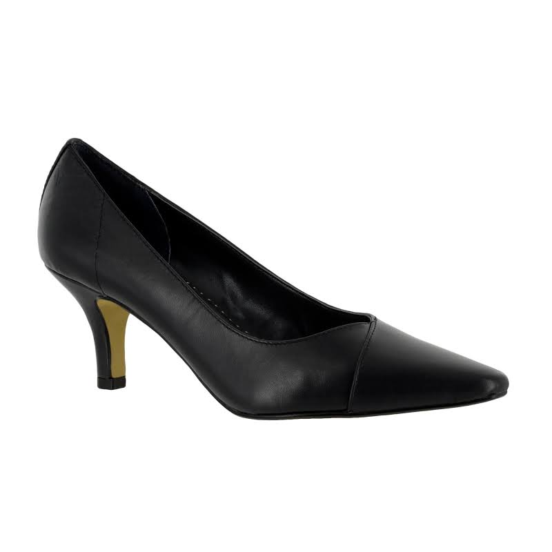 Bella Vita Wow Leather Closed Toe Classic Pumps, Black,