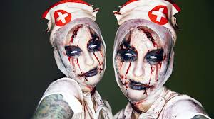 possessed scary nurse halloween makeup transformation tutorial