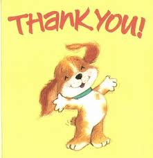 puppy saying thank you