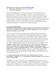Bibliography Sample Apa Style Annotated   Cover Letter Templates