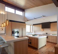 Modern Pendant Lighting For Kitchen Island Kitchen Island Pendant Lighting Emits Golden Glow In Sun Valley