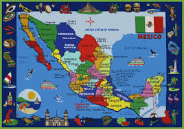 Mexico Cities Map by Pictorial Travel Map Of Mexico