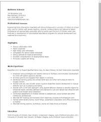 Inventory Specialist Resume Sample by Professional Early Intervention Specialist Templates To Showcase